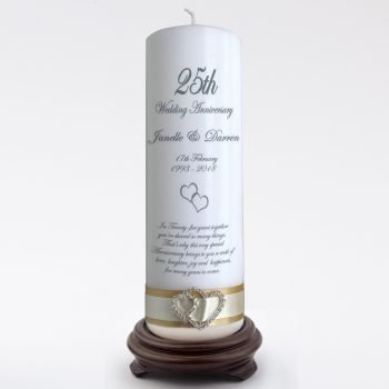 Anniversary Personalised Candle Elegance