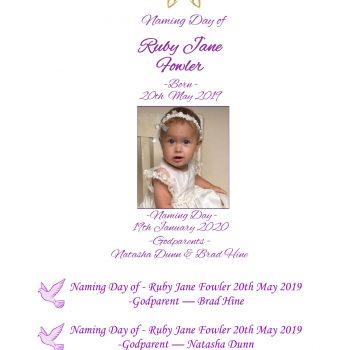 Naming Day Personalised Candle Set Elegance
