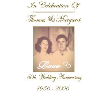 Anniversary Personalised Candle Double Classic