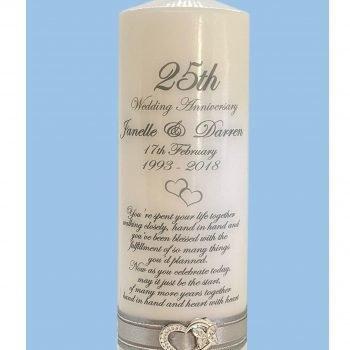 Anniversary Personalised Candle Elegance