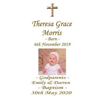 Baptism Personalised Candle Double Classic