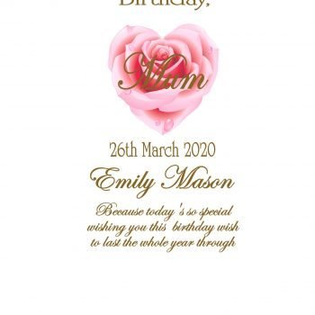 Birthday Personalised Candle Double Classic
