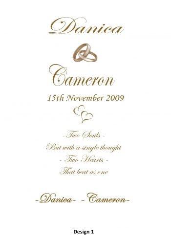 Wedding Personalised Intimate Unity Candle Set Elegance