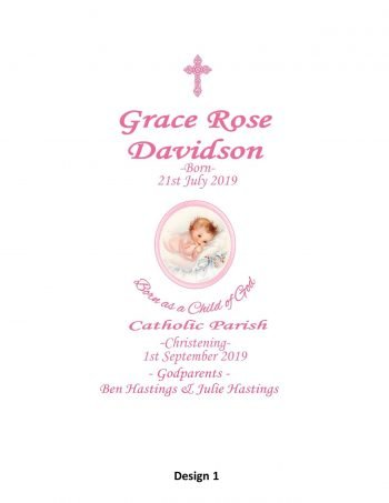Christening Personalised Candle Elegance