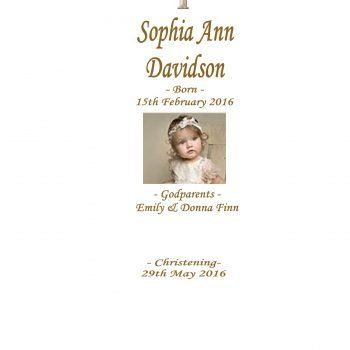 Christening Personalised Candle Ornate