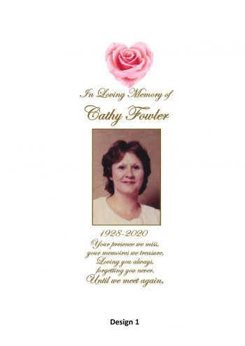 Memorial Personalised Candle Double Classic