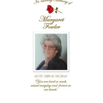 Memorial Personalised Candle Classic