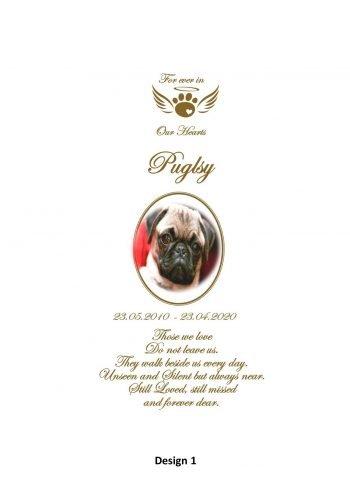 Pet Memorial Personalised Candle Classic