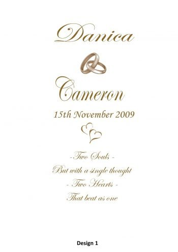 Wedding Personalised Single Candle Double Classic