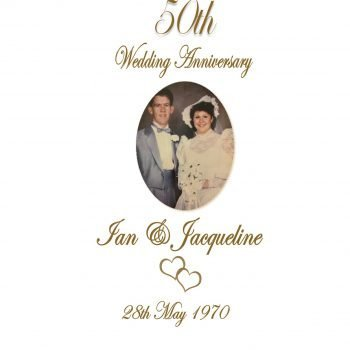 Anniversary Personalised Candle Romance