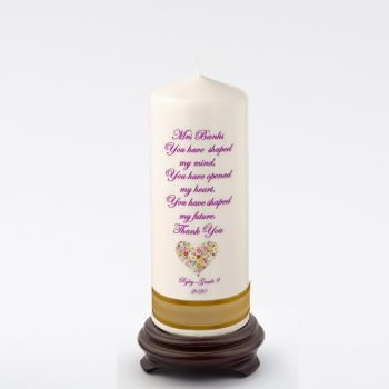 Teacher Personalised Candle- Shaped my Future
