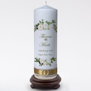 Wedding Personalised Single Candle Romance