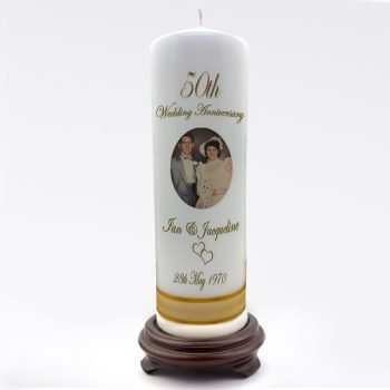 Anniversary Personalised Candle Classic