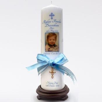 Baptism Personalised Candle Ornate