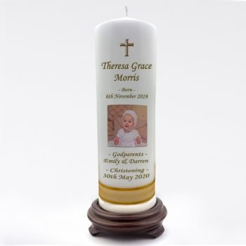 Christening Personalised Candle Classic
