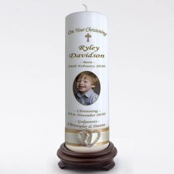 Christening Personalised Candle Elegance