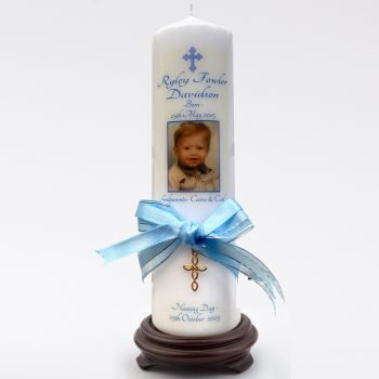Naming Day Personalised Candle Ornate
