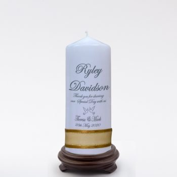 Personalised Wedding Bonbonieres Candle Classic