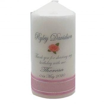 Personalised Birthday Bonbonieres Candle Classic