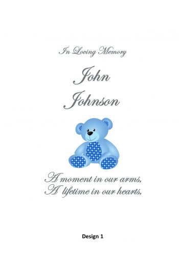 Memorial Personalised Child Candle Classic