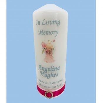 Memorial Personalised Child Candle Elegance
