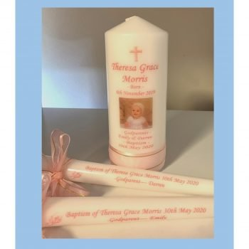 Christening Personalised Candle Set Classic