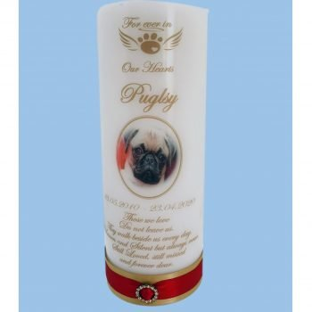 Pet Memorial Personalised Candle Elegance