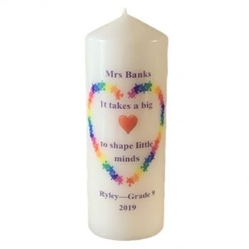 Teacher Personalised Candles- Shape my Mind