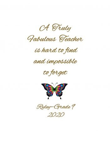 Teacher Personalised Candle- Truly Fabulous Teacher