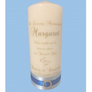 Wedding Personalised Memorial Candle Elegance