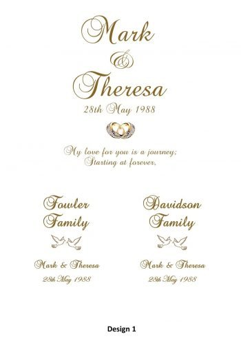 Wedding Personalised Unity Candle Set of 3 Romance