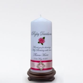 Personalised Birthday Bonbonieres Candle Elegance