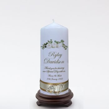 Personalised Wedding Bonbonieres Candle Elegance