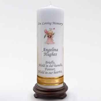 Memorial Personalised Child Candle Double Classic