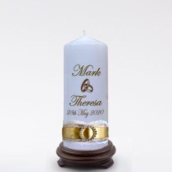Personalised Wedding Bonbonieres Candle Romance