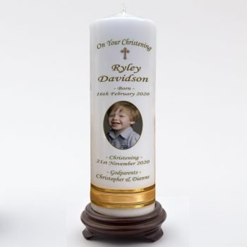 Christening Personalised Candle Double Classic