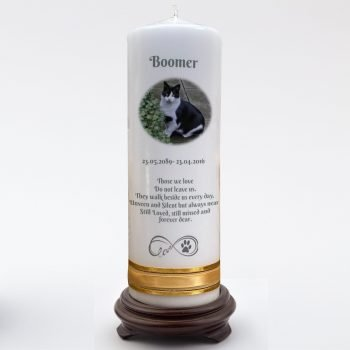Pet Memorial Personalised Candle Double Classic