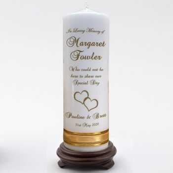 Wedding Personalised Memorial Candle Double Classic