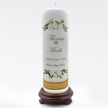 Wedding Personalised Single Candle Classic